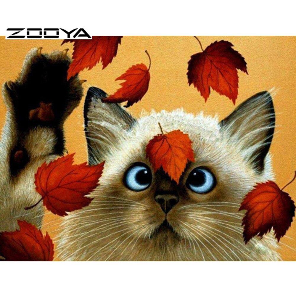 ⑧Zooya <b>кошка</b> белый Сделай Сам алмаз живопись Наборы <b>Cat</b> ...