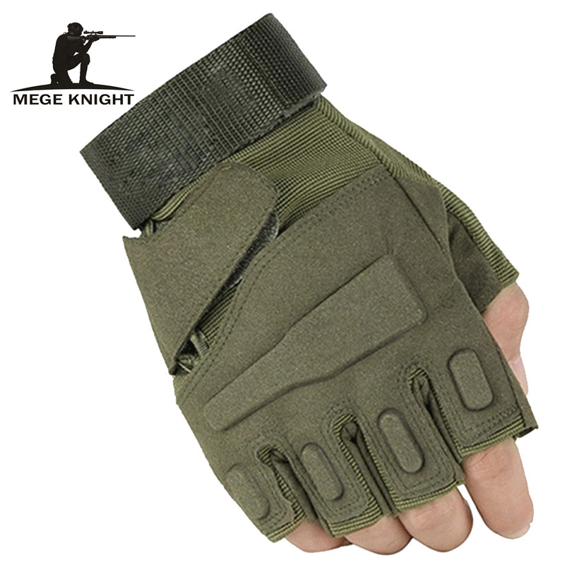 Military usa special forces tactical gloves fighting combat slip-resistant black half- finger gloves