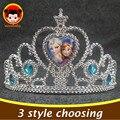 Moda Girls Princess Crown Anna Elsa Hairbands para los niños corona Cosplay pelo de las muchachas accesorios celebración regalos de cumpleaños SP14