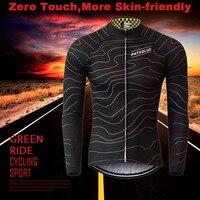 Phtxolue зима Термальность руно Велоспорт трикотаж Теплый 2016 Pro Mtb с длинным рукавом Для мужчин велосипед одежда Костюмы Майо QY064