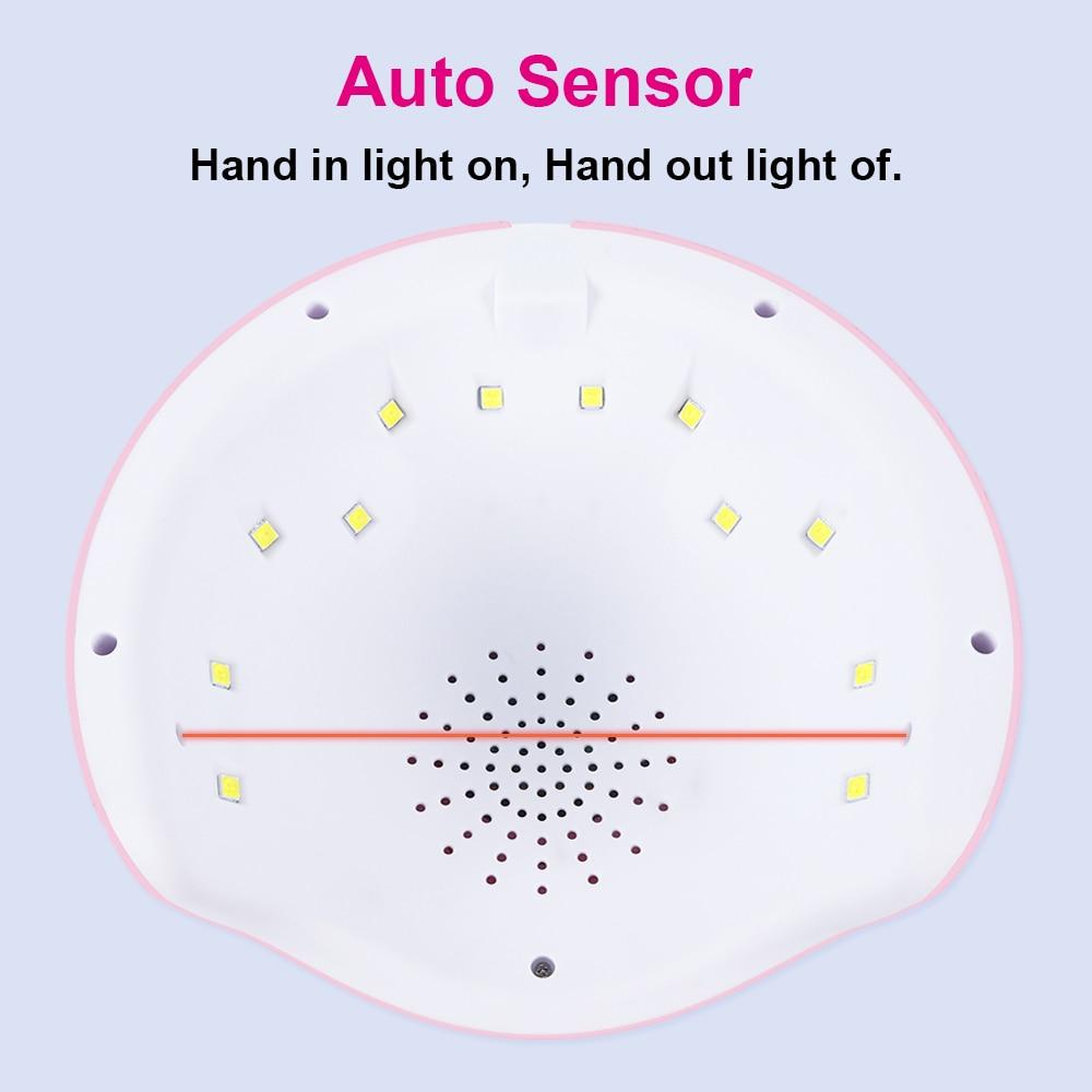 36W UV Lamp For Manicure LED Nail Dryer Lamp Sun Light Curing All Gel Polish Drying UV Gel Smart Timing Nail Art Tools LASTAR6 (2)