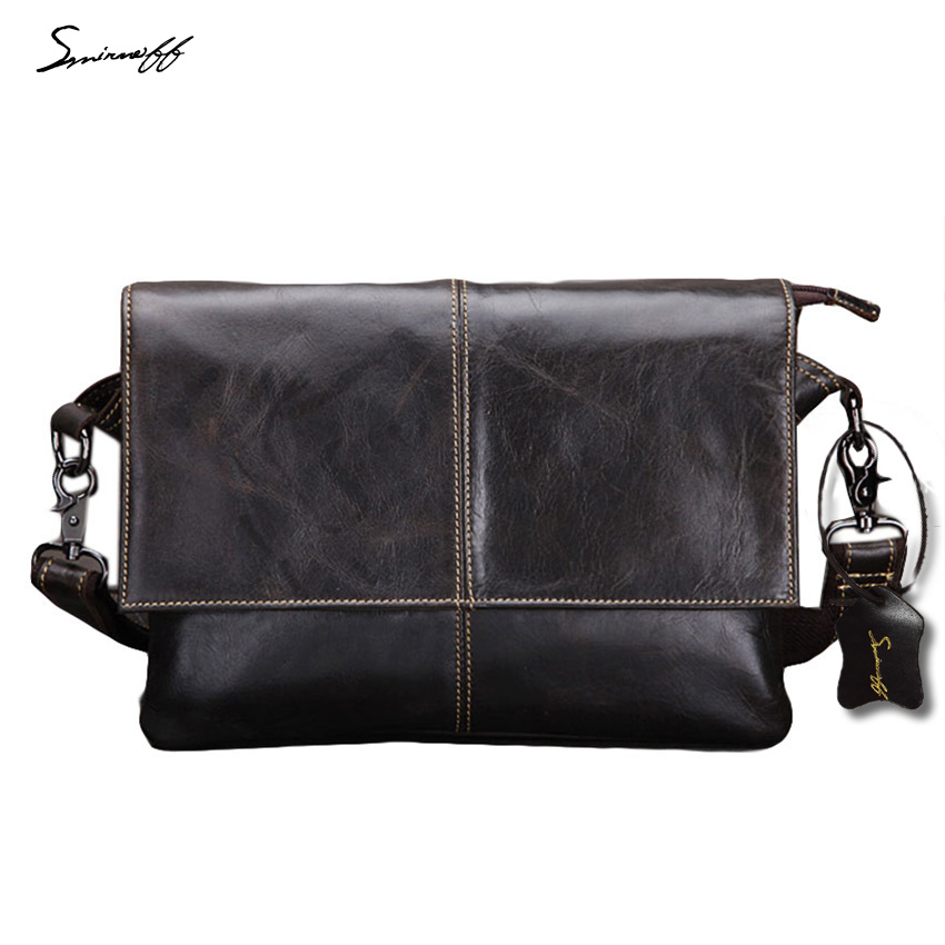 SMIRNOFF 2017 Messenger Bag Men Leather Luxury Leisure Men Shoulder Bag Male High Quality Famous Brand Designer Handbags Male 2017 famous designer brand upscale high quality cotton men jeans trouser european and american casual style pant for male jeans