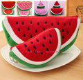 Novelty Kid's Watermelon Coin BAG Series , 22cm Plush Coin Pencil BAG Pouch ; 10CM Hand Pocket Coin Purse BAG Wallet Pouch
