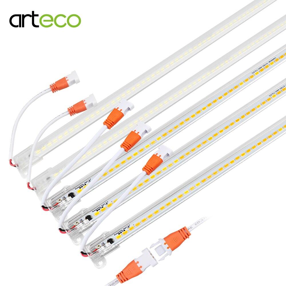 LED Bar Light AC220V High Brightness LED Tube 50cm 72LEDs 5730 LED Rigid Strip Energy Saving LED Fluorescent Tubes 2-5pcs/lot