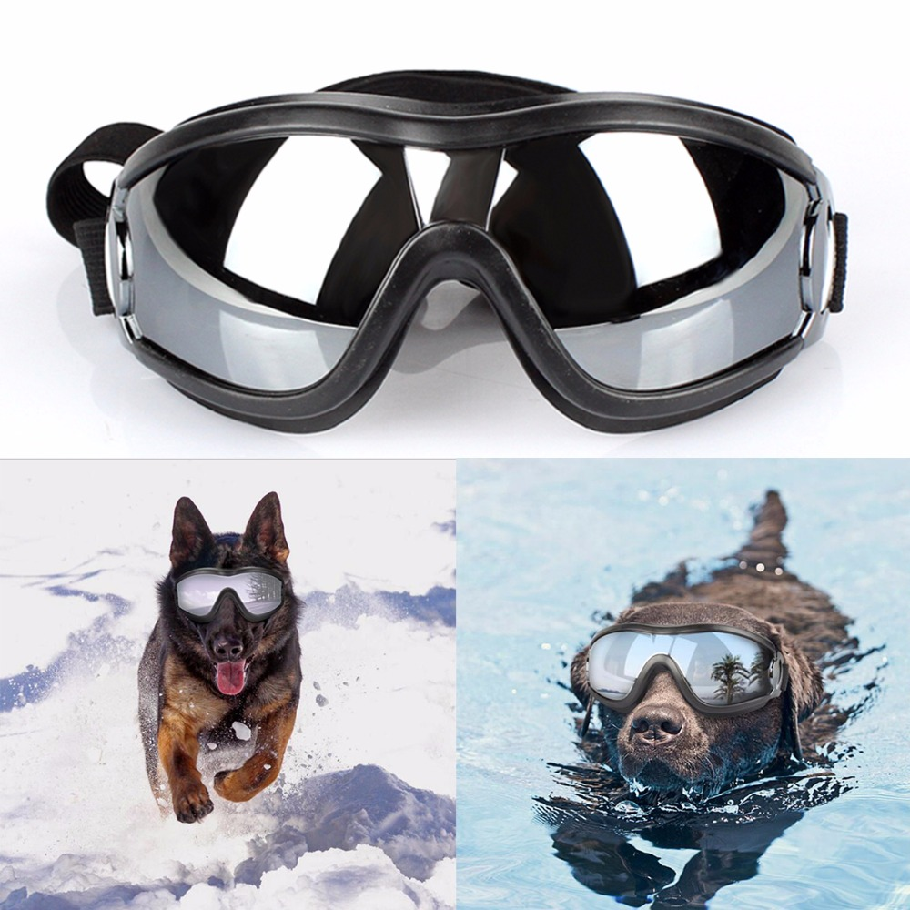 Dog Sunglasses UV Protection Windproof Goggles Pet Eye Wear Medium Large Dog Swimming Glasses Cool Accessaries