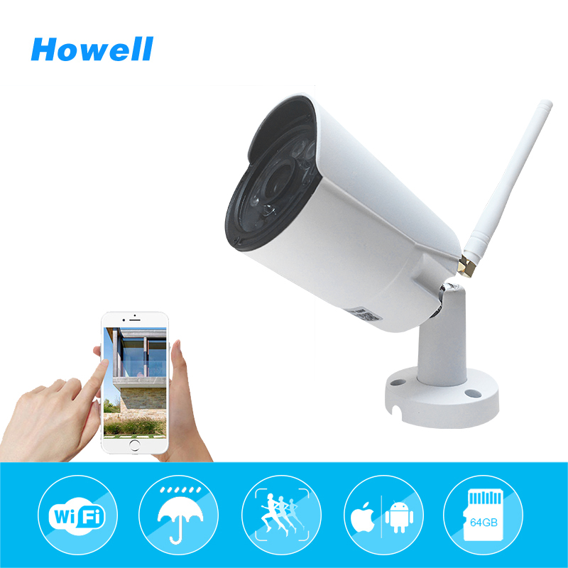 Howell IP65 Waterproof IP Bullet Camera 720P 1080P WIFI Wireless CCTV IR Night Vision Home Security Outdoor Surveillance Camera wistino cctv bullet ip camera xmeye waterproof outdoor 720p 960p 1080p home surverillance security video monitor night vision