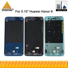 """Axisinternational 5.15 """"pour Huawei Honor 9 Honor9 cadre de lunette avant/boîtier de cadre moyen noir gris/or livraison gratuite"""