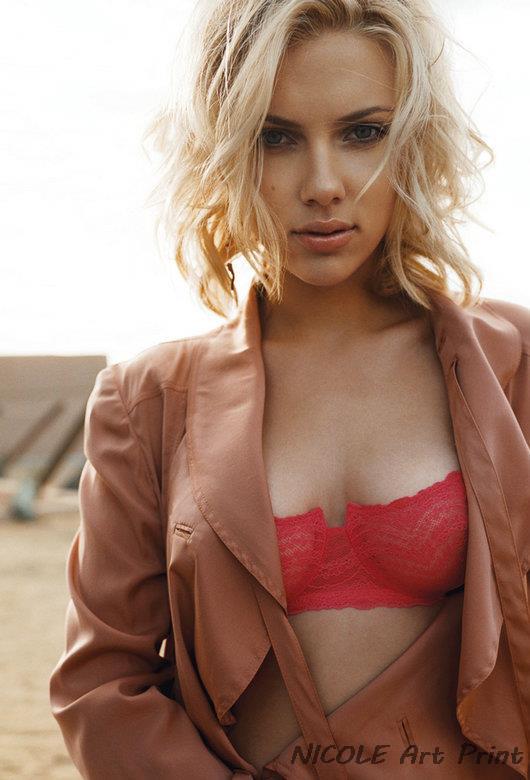 Nicoleshenting Scarlett Johansson In Red Sexy Hot Movie -5844