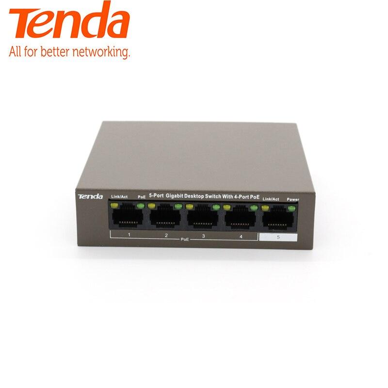 Tenda TEG1105P-4-63W commutateur Gigabit commutateur réseau POE ethernet 5*10/100/1000 Mbps Port RJ45 10gbps capacité de commutation Plug Play