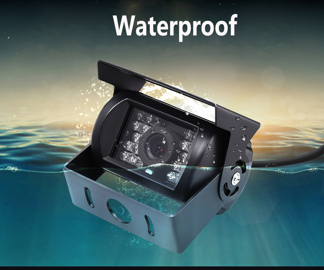 Waterproof 18 LED IR Night Vision Car rear view Reversing Parking Backup Camera For 12V 24V Bus Truck Motorhome Vehicle