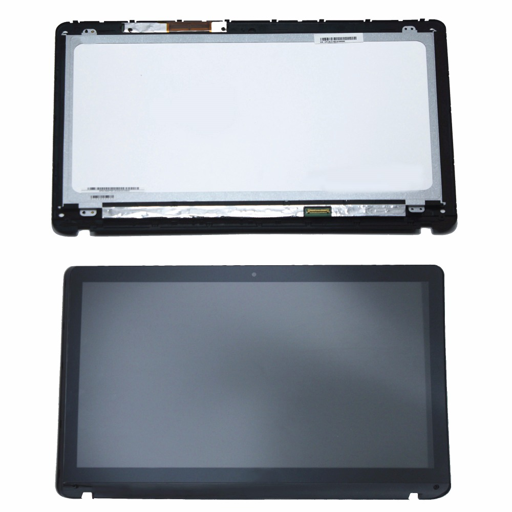 New 15.6 For Sony Vaio SVF152 Series SVF152C29M SVF152C29L N156HGE LB1 Full LCD Display Touch Panel Screen Assembly with Bezel