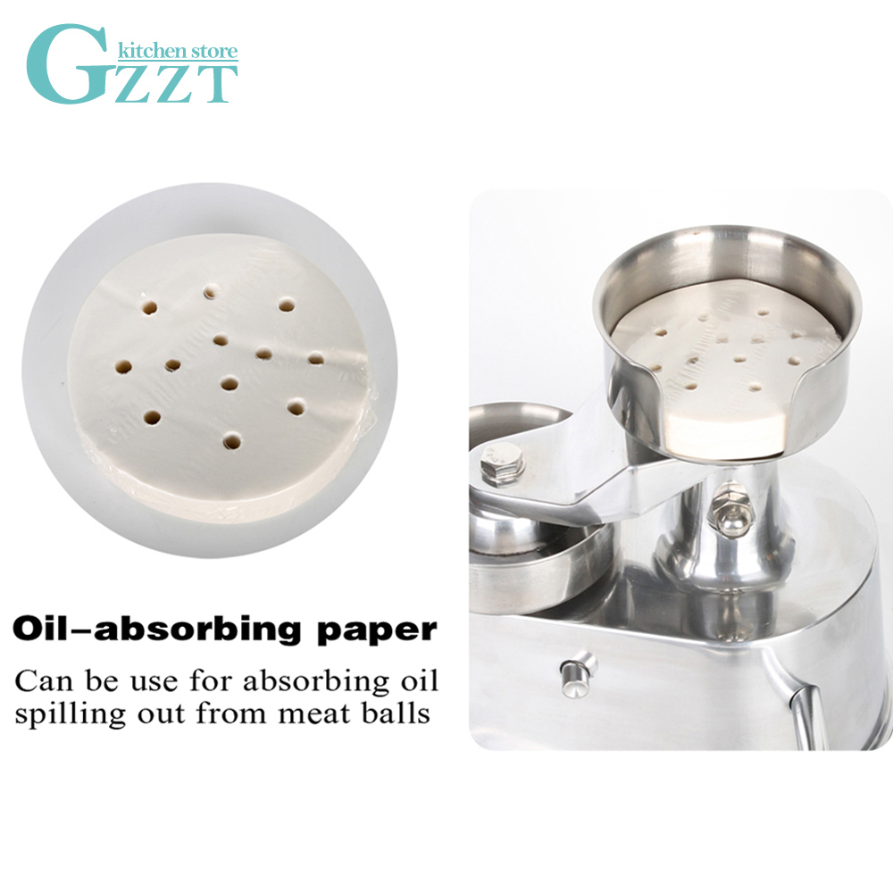 GZZT Hamburger Press Machine 400pcs Oil Absorbing Paper 100mm 130mm Suitable for AM10 AM13 Burger Press Paper Steamer Paper in Hamburger Presses from Home Garden