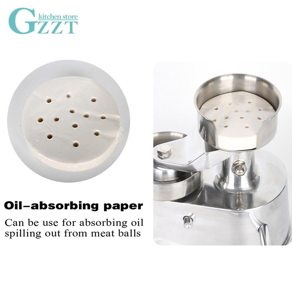 GZZT Hamburger Press Machine 400pcs Oil Absorbing Paper 100mm/130mm Suitable for AM10/AM13 Burger Press Paper Steamer Paper