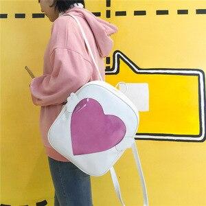 Image 3 - MSMO Ita bag Glitter Clear Flap Wing Backpack Japan Harajuku Girls Kawaii Bling Transparent Love School Bag Gift