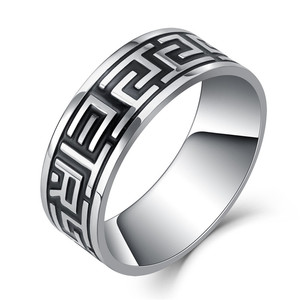 """Vintage 316L Stainless Steel Ring for Men And Women Never Fade Power Lucky """"Om Mani Padme Hum"""" Sanskrit Buddhist Mantra Ring 8mm(China)"""