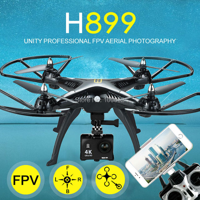 Original H899 HQ899 UAV Drone Quadcopter RC HuanQi 899 Grande 2.4G 4CH 6-Axis Helicóptero Puede Añadir HD CAM 5MP WIFI FPV VS H502S H11WH
