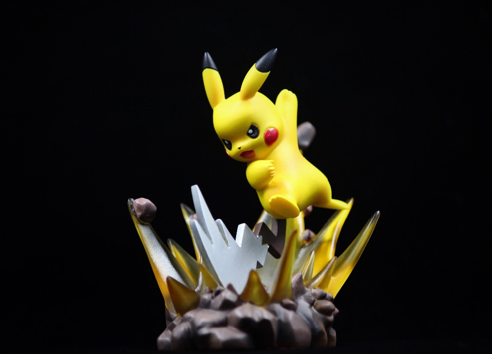 MODEL FANS IN-STOCK Genuine poke studios 10cm pokemon Pikachu GK pvc made figure toy for Collection model fans in stock 23cm pokemon snorlax gk resin made figure toy for collection