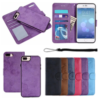 Retro Frosted PU Leather Flip Wallet Cases For Iphone 7 7S 6 6S Plus 5 5S