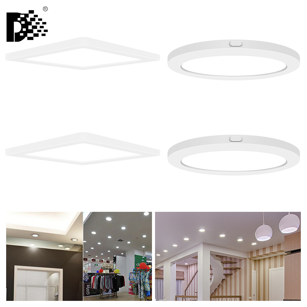 6w 12w 18w 24w Led Recessed Ceiling Flat Panel Down Light: Ultra Thin LED Panel Downlight 5W 6W 12W 18W 24W Round