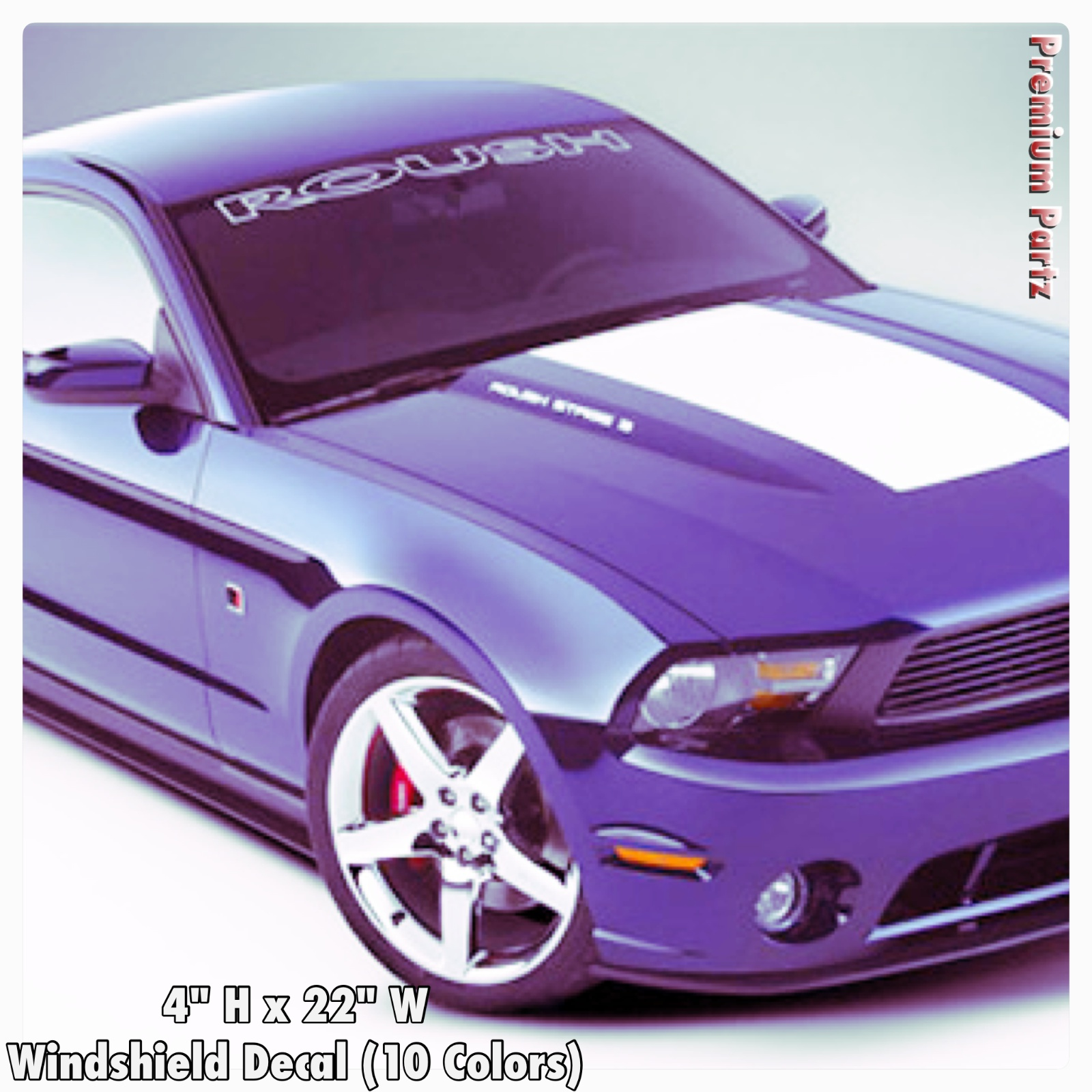 """Mustang Front 36/"""" Windshield Banner Decal Fits Ford Mustang gt cobra shelby"""