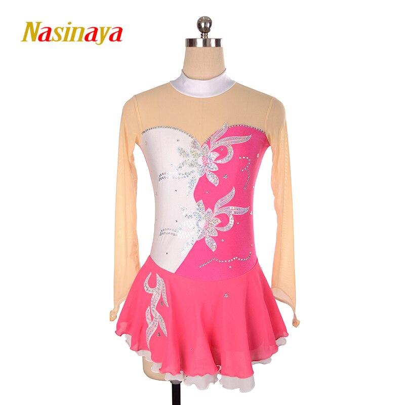 Nasinaya robe de patinage artistique concours personnalisé jupe de patinage sur glace pour fille femmes enfants gymnastique Performance offre spéciale