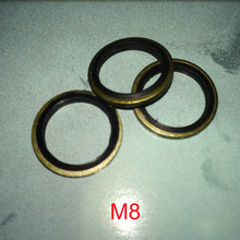 100 PCS Metal & Rubber Oil Drain Washer Gasket free freight