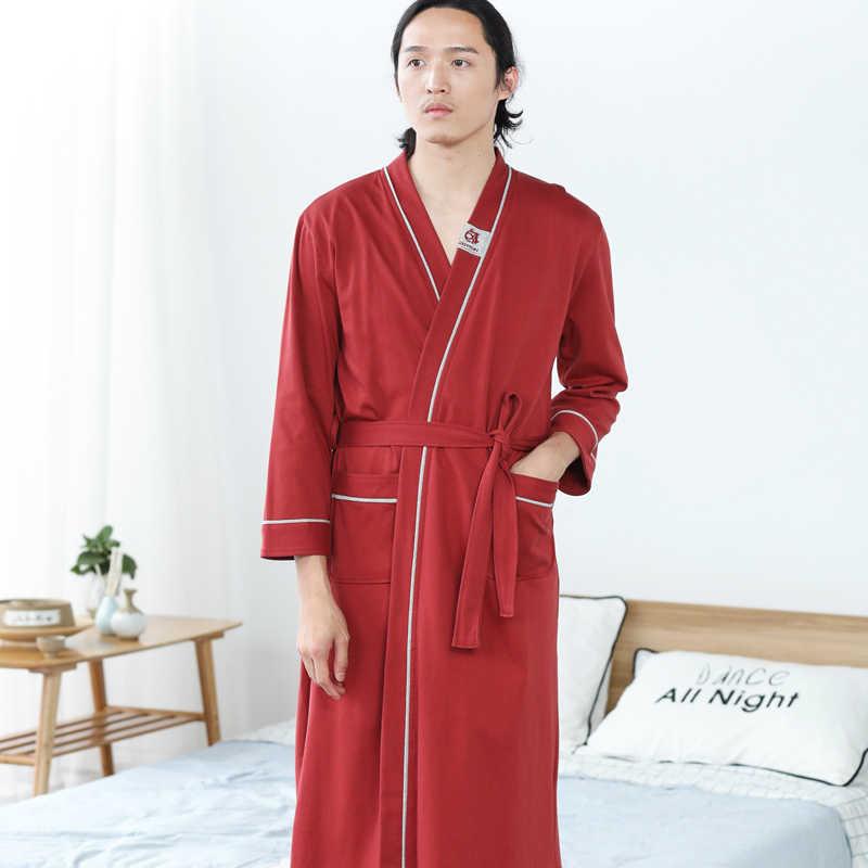 日本の夏着物浴衣男性綿 100% 花嫁介添人ウエディングローブドレス長袖スパセクシーなナイトパジャマ