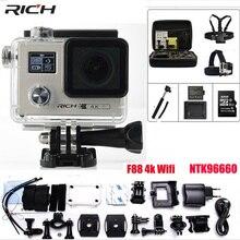 F88 Motion Digital camera Extremely HD 4K Wifi 1080P/60FPS 2.zero inch LCD Double Display screen Novatek 96660 digicam Outside Waterproof Sport Digital camera