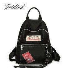 Teridiva 2017, Новая мода кисточкой рюкзак высокое качество женские рюкзаки школьные сумки небольшой мини рюкзаки для девочек украшения сумки
