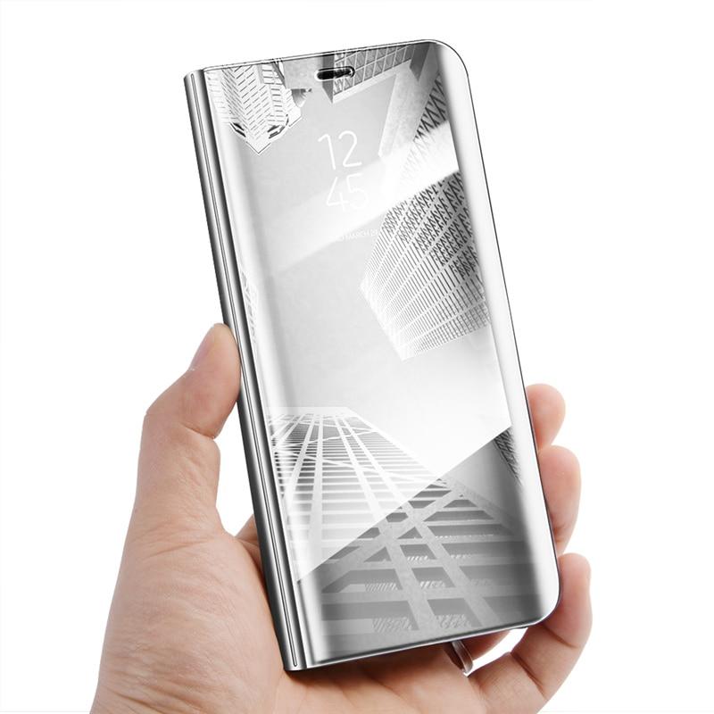 Mi 6X Smart Flip Stand Mirror Case For Xiaomi mi Clear View PU Leather Cover Mi6X XIAOMI