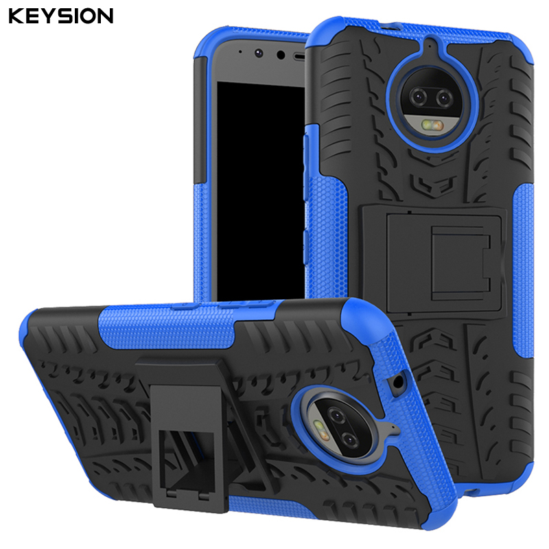 KEYSION Case for Motorola Moto G5S Plus G5S+ 5.5 Inch PC+TPU Back Covers Phone Bags Kickstand Cases for Motorola Moto G5S Plus