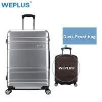WEPLUS PC Дорожный чемодан для багажа Женская тележка Чехол для мужчин высококлассные бизнес коробка багажник 24 дюйма для женщин мужчин высоко...