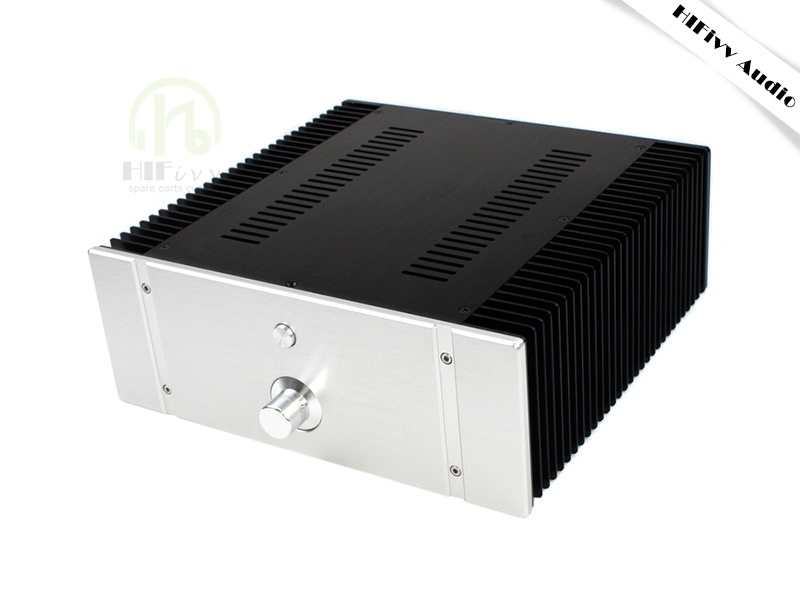 Hifivv audio hifi Pure power amplifier class A case Aluminum Chassis 3212a Full Aluminum Amplifier case 320*120*311mm name machine b 108 circuit no big loop negative feedback pure post amplifier hifi fever grade high power 12 tubes