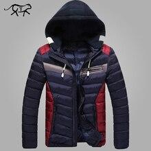 Neue Ankunft Winterjacke Männer Warme Baumwolle Gepolsterten Mantel Zufälligen männer Kapuzen Jacken Hübsche Thicking Parka Plus größe Dünne Mäntel
