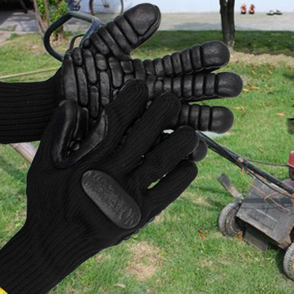 1 Pair Gardening Gloves Safety Protective Labor Working Gloves Electric Drill Shockproof Wear Resistant Industrial Gloves