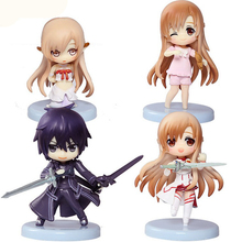 4Pcs 6Cm Cute Sword Art Online figure set