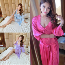 Underwear Dress Coat Women Lingerie NEW HOT 2016 Sleepwear Robe Satin  Nightwear Sexy 854bcf100
