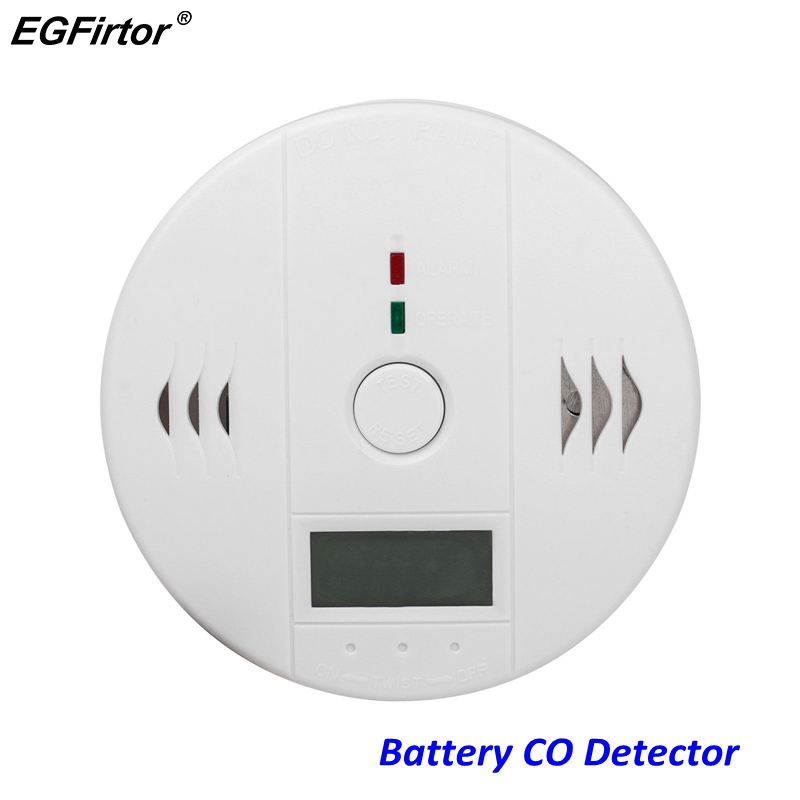 Home Alarm LCD Digital Screen 85Db Sounder Independent Carbon Monoxide Detector Warning Test CO Gas Leak Detector For Kitchen