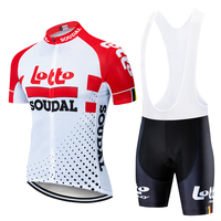 2019 new Pro team lotto soudal red cycling jerseys Bicycle maillot breathable Ropa Ciclismo MTB Short sleeve bike cloth 9D GEL