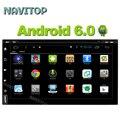 Navitop android 6.0 универсальный dvd-плеер автомобиля gps для Nissan juke qashqai almera pathfinder tiida, pdf 7 дюймов навигации