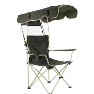 Image 1 - Outdoor Chair Portable Folding Detachable Awning Thicken Steel Pipe Double Oxford Cloth Fishing Beach Shade Canopy Camping Chair