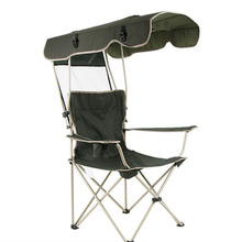 เก้าอี้กลางแจ้งแบบพกพาพับที่ถอดออกได้ Thicken เหล็กท่อคู่ Oxford ผ้าตกปลาชายหาด Shade Canopy Camping เก้าอี้