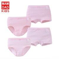 Children Underwear Girls Cotton Briefs Boxer Briefs Four Pack 2018 New Parents Baby Underwear 4T-15T