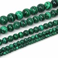 4/6/8/10/12mm Synthesis Malachite Round Beads Nature Stone Beads Jewelry Findings For Jewelry Making Bracelet Necklaces DIY