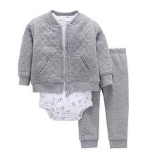 Conjunto para bebé niño y niña, ropa para recién nacido, conjunto para niño pequeño, disfraz unisex para recién nacido, traje de primavera y otoño, chaqueta + Body + pantalón