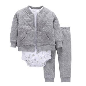 Image 1 - baby boy girl outfit infant clothing newborn clothes toddler set unisex new born costume spring autumn suit jacket+bodysuit+pant