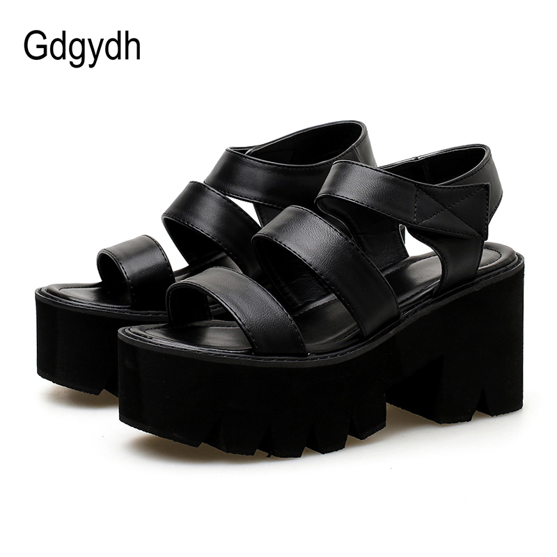 Gdgydh Gladiator Sandals For Women Platform Heels Hook Loop Ankle Strap Ladies Casual Shoes Rome Style 2019 New Summer Drop Ship