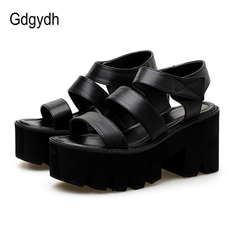 Gdgydh gladiateur sandales pour femmes plate-forme talons crochet boucle cheville sangle dames chaussures décontractées Rome Style 2019 nouveau été livraison directe