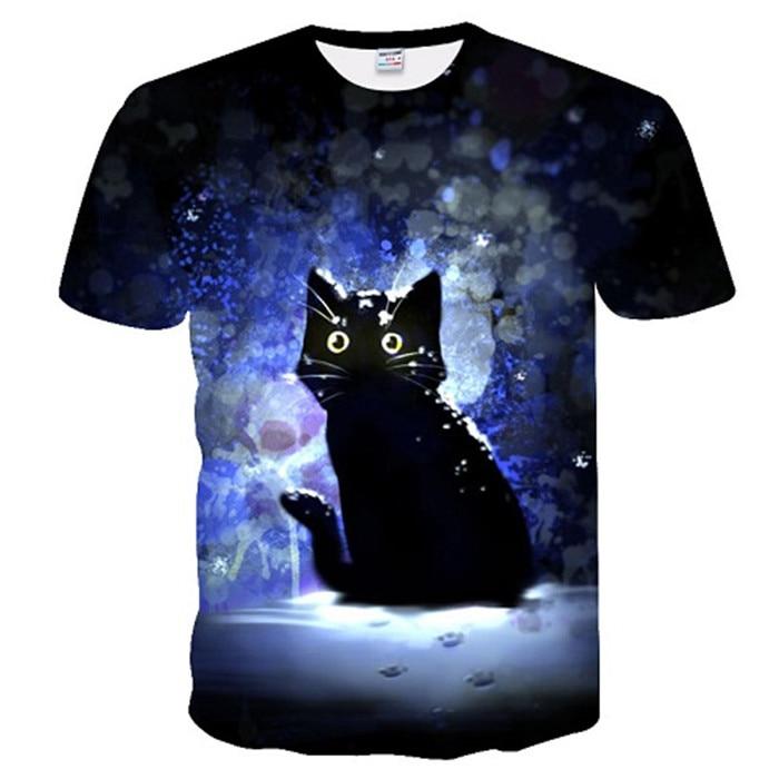 Новинка, футболка для мужчин/женщин, 3d принт, мяу, черный, белый, кот, хип-хоп, Мультяшные футболки, летние топы, футболки, модные 3d футболки, M-5XL - Цвет: txu-169