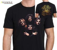 Queen Bohemian Rhapsody Freddie Mercury The Legend Mens T-Shirt Size S-3XL 2019 Latest Men T Shirt Fashion